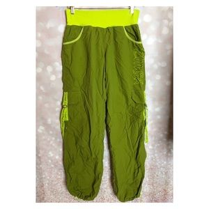 Green Zumba Cargo Workout Pants